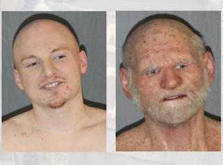 Criminal Shaun Miller disguises himself like an old man