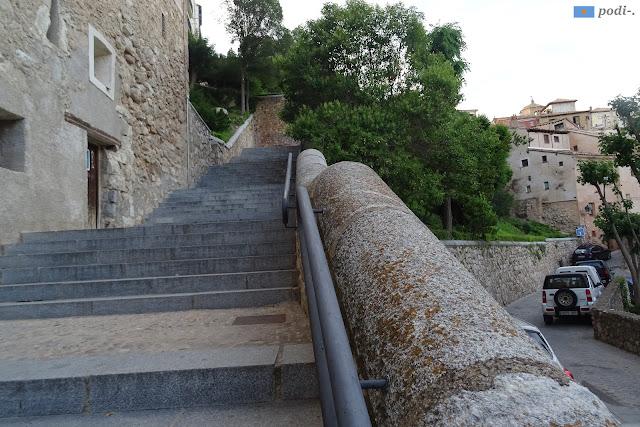 Escaleras de la hoz del Huécar a la plaza Mayor de Cuenca