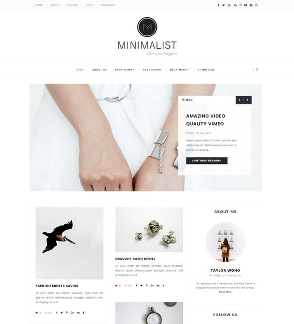 Minimalist – Clean & Responsive Blogger Template