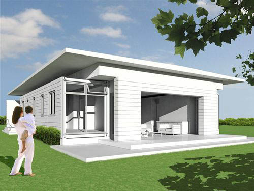 Minimalist House Design Architecture Seen From the Side Position