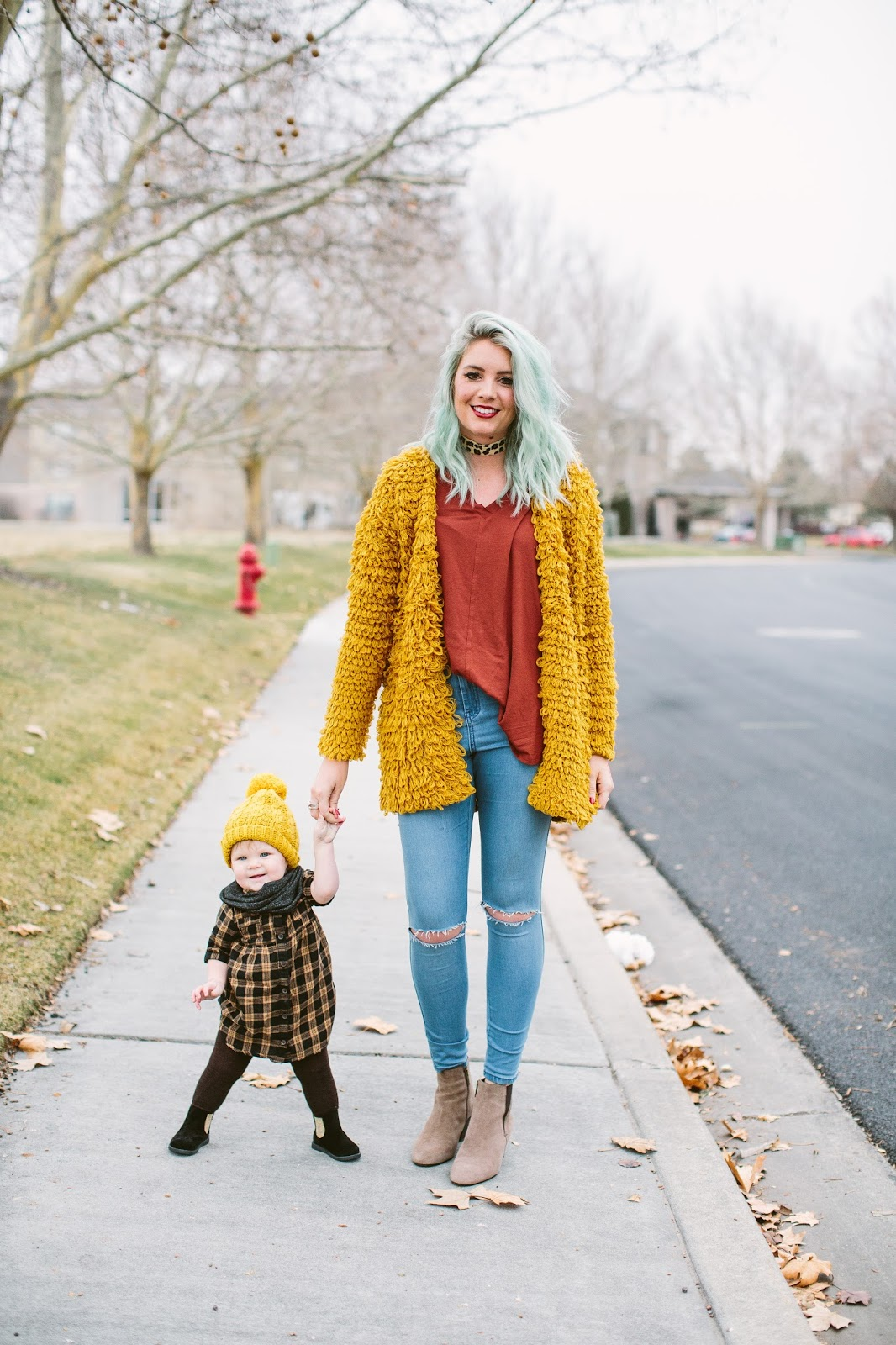 Mommy and Me outfits, Plaid dress, winter style