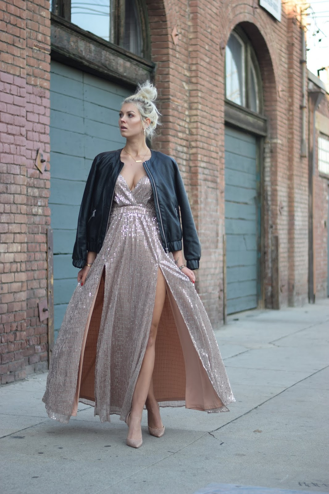 how to style a sparkling dress
