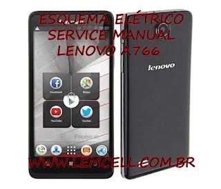 Esquema Elétrico Smartphone Celular Lenovo A766 Manual de Serviço Service Manual schematic Diagram Cell Phone Smartphone Lenovo A766