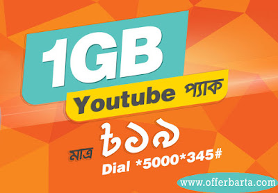 Banglalink 1GB YouTube Pack At Only 19TK - posted by www.offerbarta.com