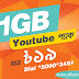 Banglalink 1GB YouTube Pack At Only 19TK