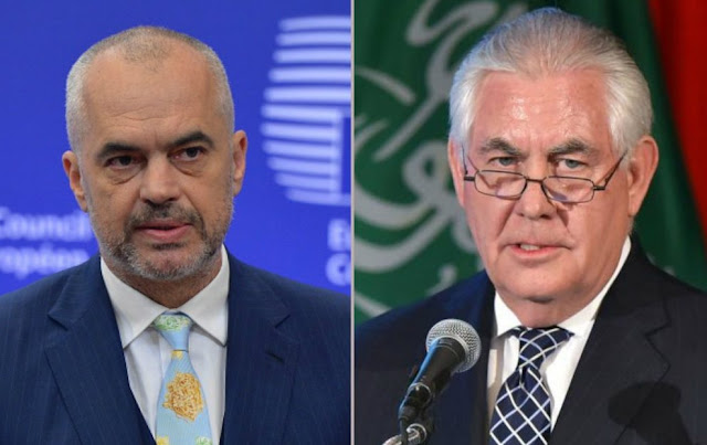 Rex Tillerson and Edi Rama 20 minutes on phone