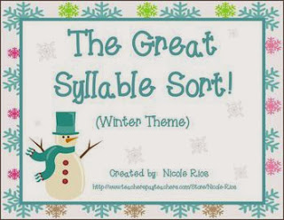 http://www.teacherspayteachers.com/Product/The-Great-Syllable-Sort-Syllabication-Patterns-Winter-Theme-455749