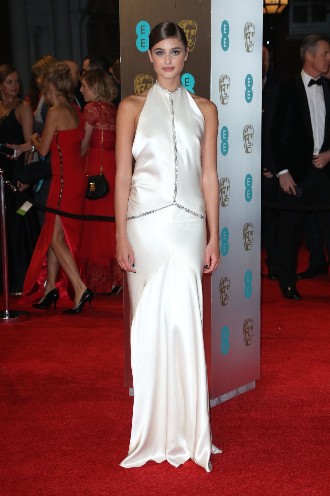 Taylor Hill on Red Carpet at BAFTA Awards in London, UK