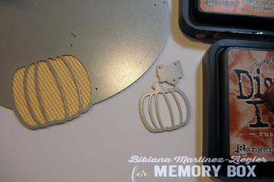 fall deer card detail sponged pumpkin