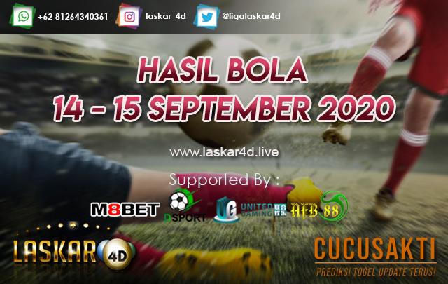 HASIL BOLA JITU TANGGAL 14 - 15 SEPTEMBER 2020