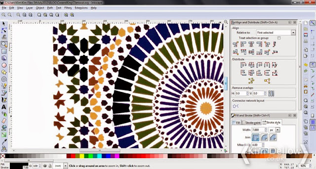 Turning the Moroccan tile design into a cutting file in Silhouette Studio by Kim Dellow