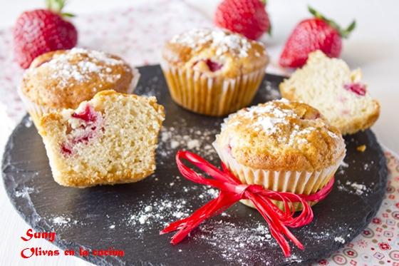 Muffins con fresas