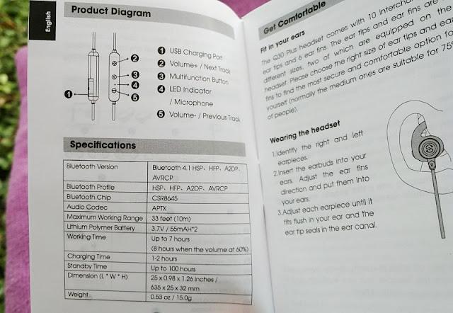Review SoundPEATS Q30 Plus APTX IPX6 Bluetooth Gym Earphones