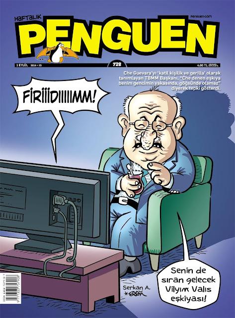 Penguen Dergisi - 1 Eylül 2016 Kapak Karikatürü