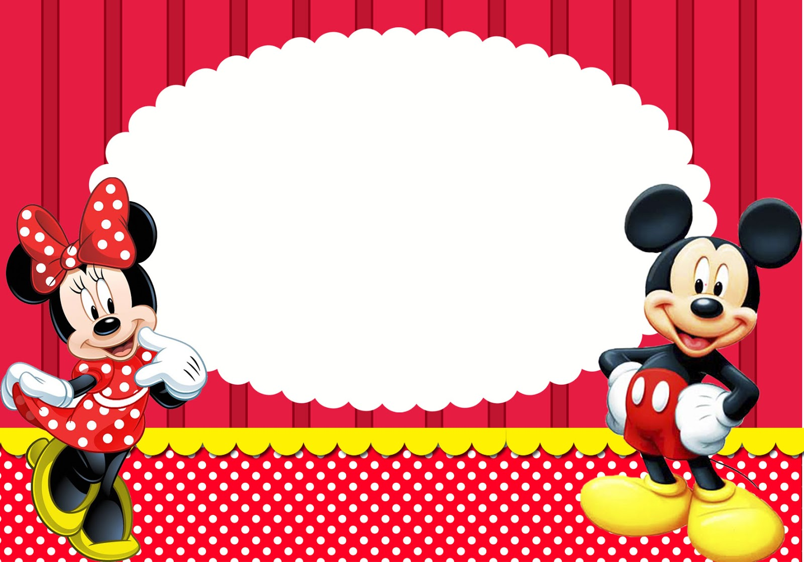 Kit Festa Mickey E Minnie Montando Minha Festa