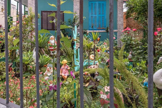 O jardim de uma casa