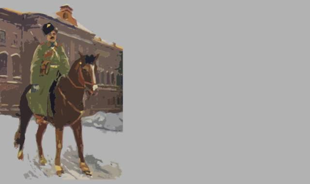Soldat auf einem Pferd