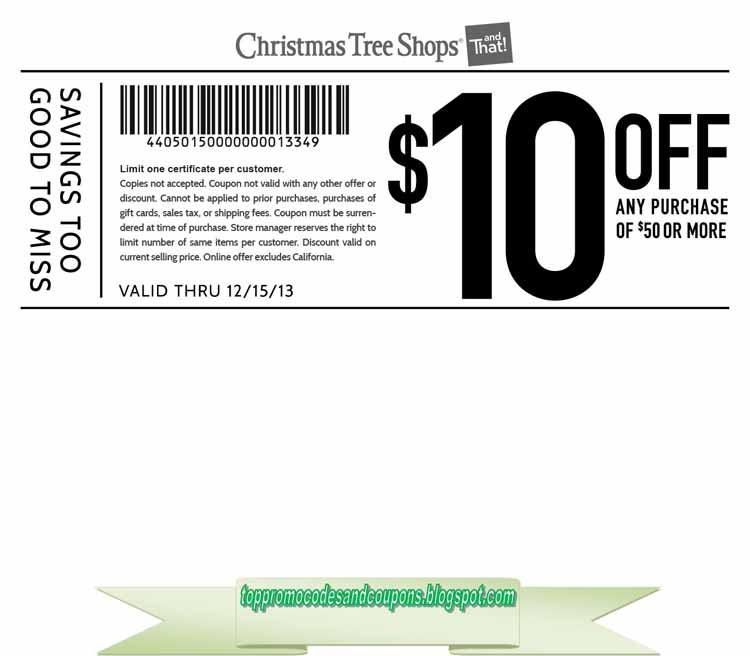 Christmas Tree Shops Coupon Codes