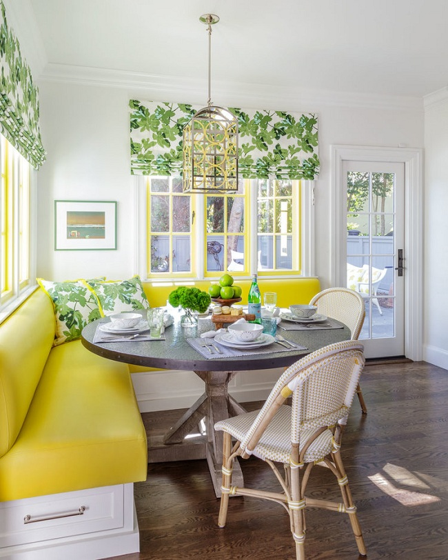Painted Family Kitchen With Dining Nook: Mix And Chic: Favorite Room Of The Week