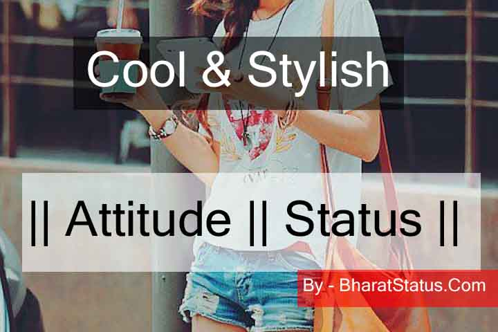 50+ Best Cool And Attitude Style Status For Girls & Boys in Hindi