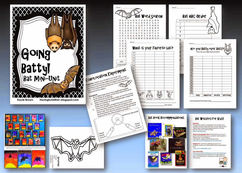 https://www.teacherspayteachers.com/Product/Bats-Going-Batty-over-Bats-367965