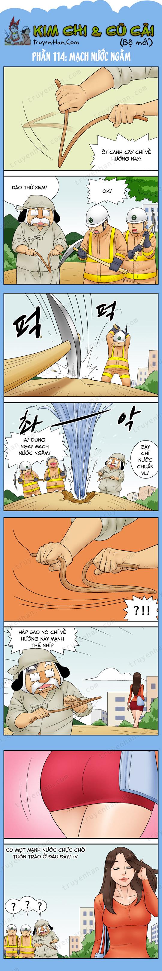 Kim Chi & Củ Cải (bộ mới) phần 114: Mạch nước ngầm