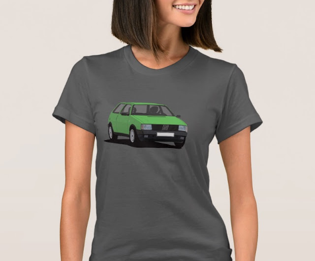 Fiat Uno (Type 146) T-shirt green for her