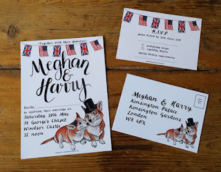 Bespoke Royal Wedding Stationery by Alice Draws The Line