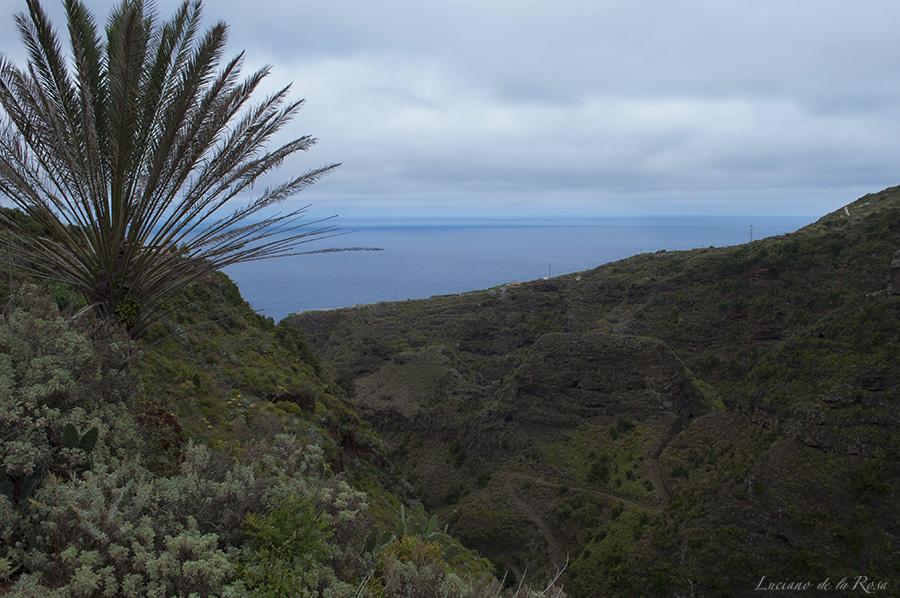 Impresionantes vistas desde el mirador Jardín de las Hespérides en la Isla de La Palma (Islas Canarias)