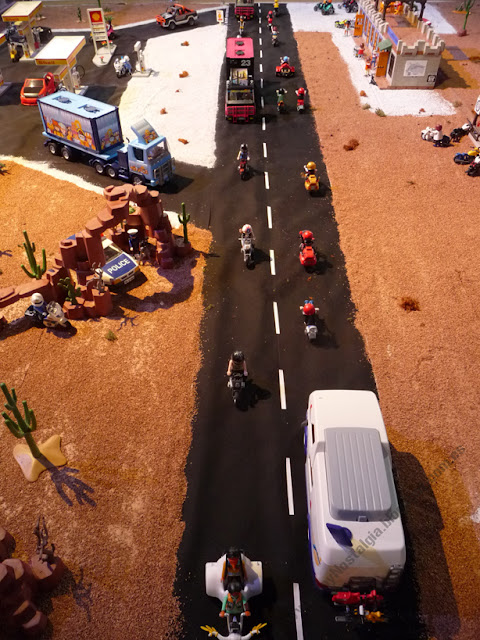 diorama Playmobil Ruta 66