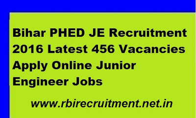 Bihar PHED JE Vacancy 2016 Civil Engineer 234 Recruitment Junior ME Notification apply online Application Form @ phed.bih.nic.in
