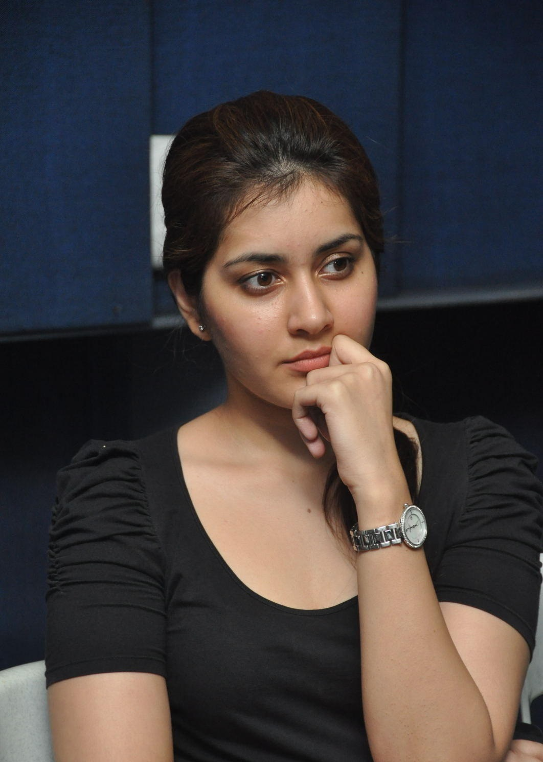 Rashi Khanna Cute Photos In Black Dress