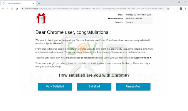 Dear Chrome user, congratulations!