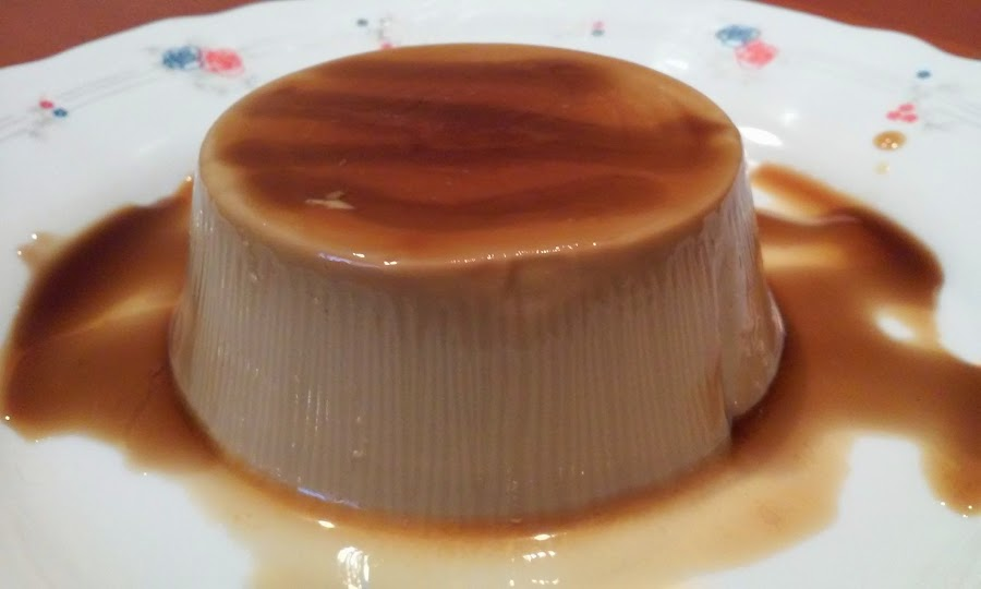 Flan de cafe con nata
