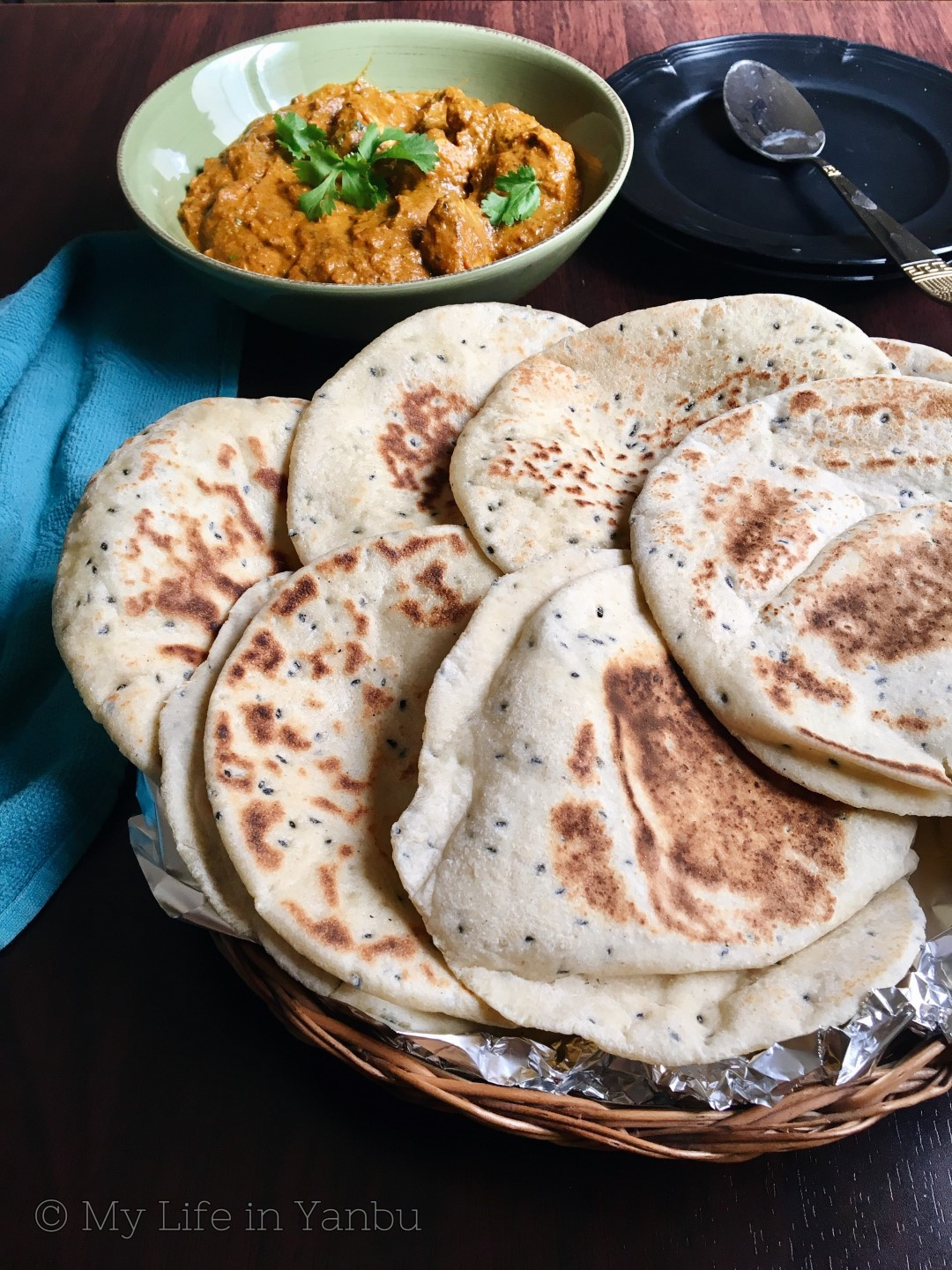Batbout | Moroccan Pita with Nigella Seeds | Stove-top Flatbread