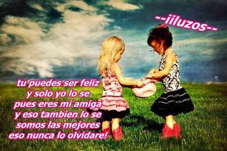 Tu puedes ser feliz solo si tu amiga lo es