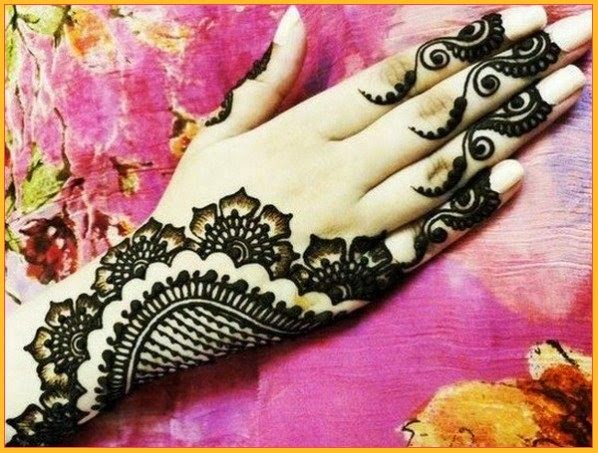 Mehndi Designs Back Side Simple : Fashion from east to west simple arabic mehndi designs