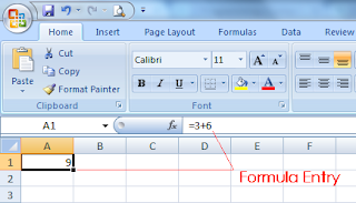 MS-Excel Formula Entry