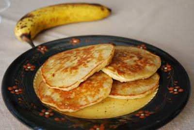 Pancakes aux bananes et flocons d'avoine