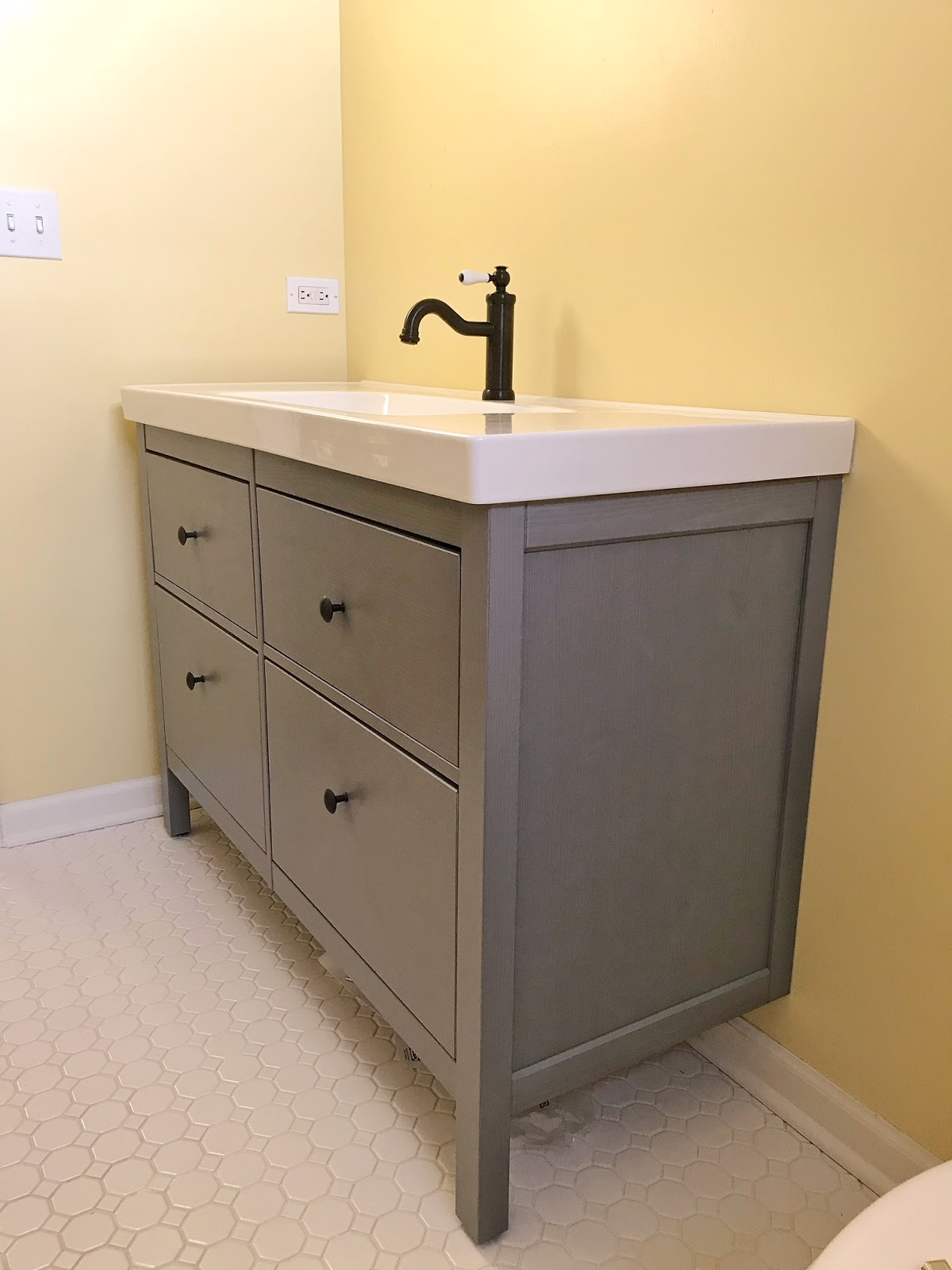 One Room Challenge Week 3 Bathroom Vanity Install R At Home