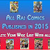 Raj Comics Published in 2015 Year Wise Complete List