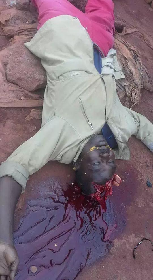 Graphic photos: 2 dead as drunk policeman fatally shoots bricklayer in Nsukka