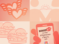 Logo Burger King : scarica i coupon di San Valentino