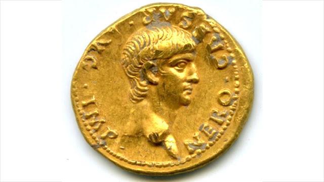 """""""Hallazgo excepcional"""": Hallan en Jerusalén una moneda de oro con la cara del joven Nerón"""