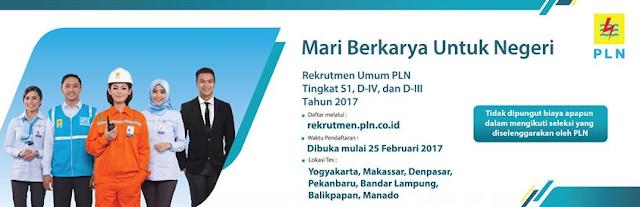 Lowongan Kerja PT PLN (Persero) Tahun 2017