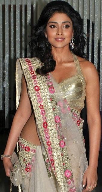 Shreya hot in  transparent saree