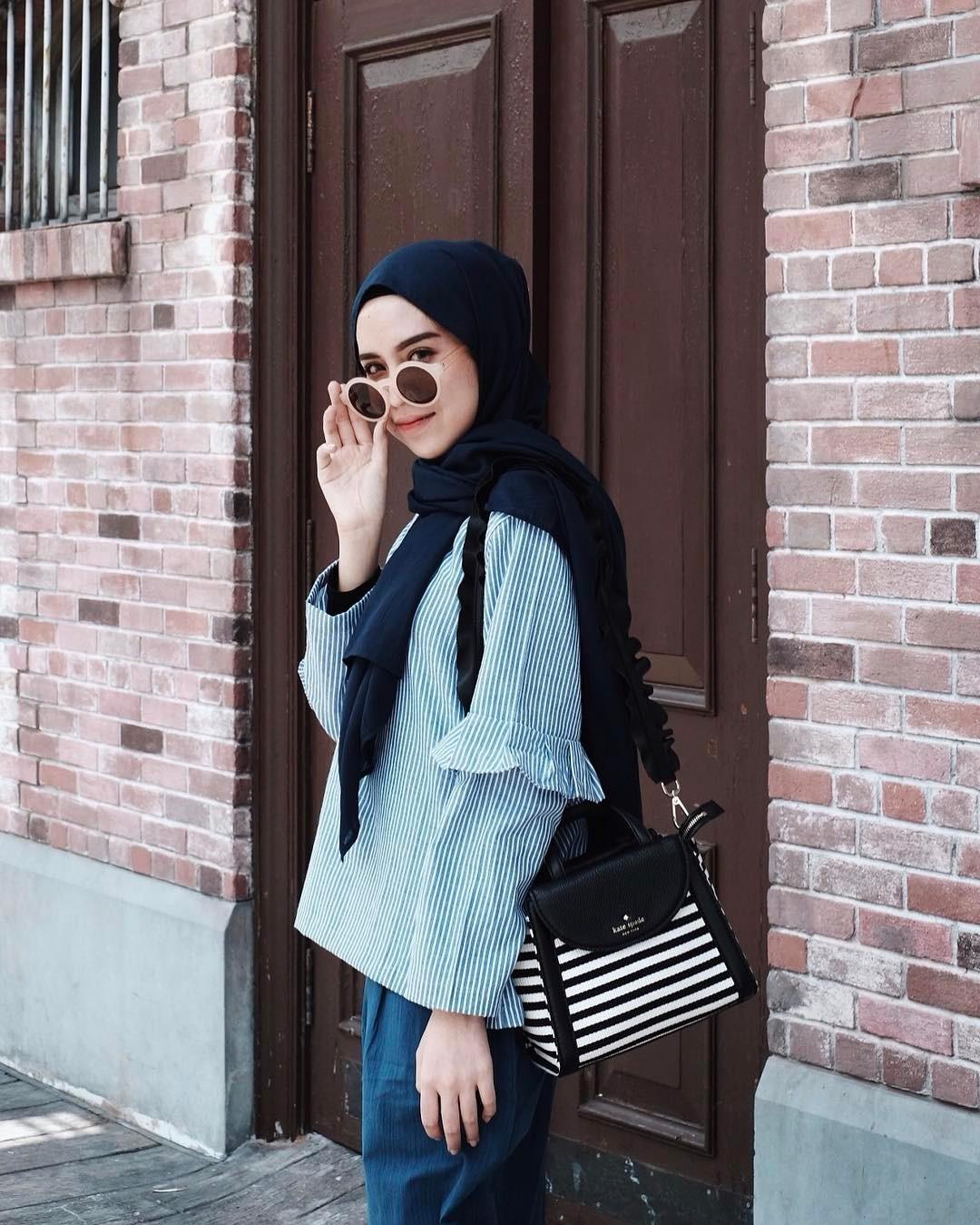10 Trend Style Hijab Muslimah Masa Kini 2017