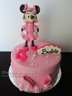 A Minnie no 4º aniversário da Beatriz