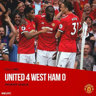 [Video Highlight] Lukaku Scores Twice As Manchester United Destroy West Ham 4-0