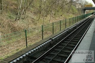 Radschnellweg für Hamburg neben der U1 in Fuhlsbüttel / Langenhorn